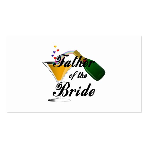 Father of the Bride Champagne Toast Pack Of Standard Business Cards