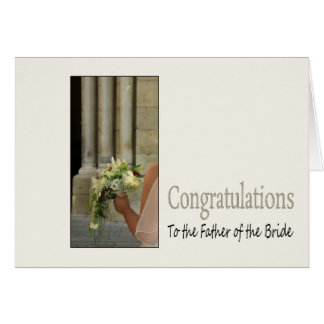 father of the Bride congratulations Greeting Card