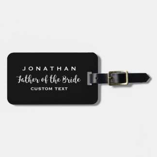 Father of the Bride Custom Wedding Modern Monogram Luggage Tag