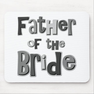 Father of the Bride Gray Mouse Mat