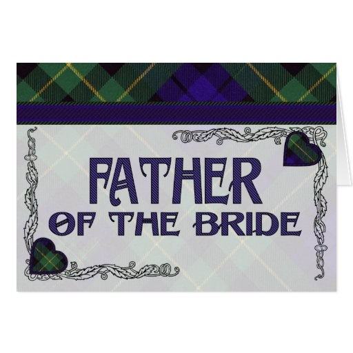 Father of the Bride Invitation - Barclay Tartan Greeting Cards