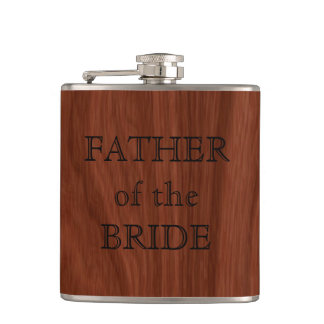 Father of the Bride | Rustic Wedding Party Hip Flask