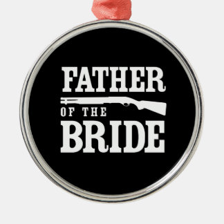 Father of the Bride Silver-Colored Round Decoration