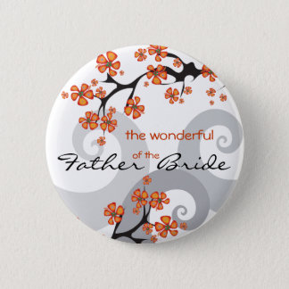 FATHER OF THE BRIDE Tropical Flower Wedding Button