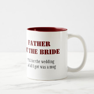 Father of the Bride Two-Tone Coffee Mug