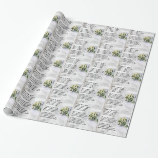 Father of the Bride - Wedding Bouquet Design Wrapping Paper