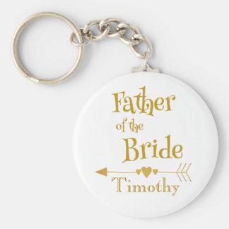 Father of the Bride Wedding Keepsake Key Ring