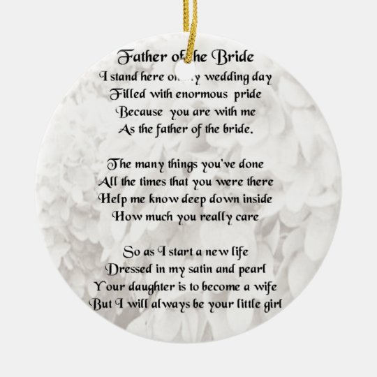 Father of the Bride - White Christmas Ornament