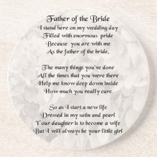 Father of the Bride - White Coaster