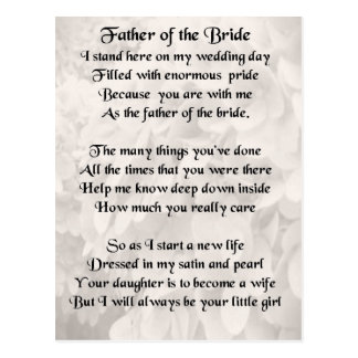 Father of the Bride - White Postcard