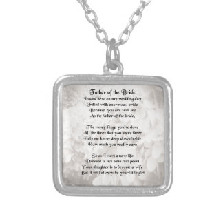 Father of the Bride - White Silver Plated Necklace
