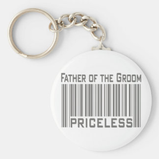 Father of the Groom  Basic Round Button Key Ring