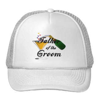 Father of the Groom Champagne Toast Trucker Hat