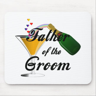 Father of the Groom Champagne Toast Mouse Pad
