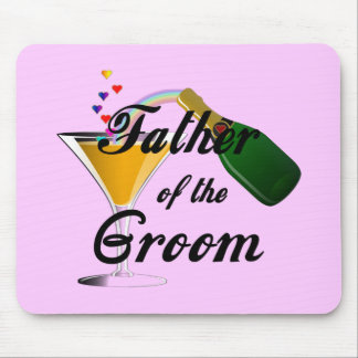 Father of the Groom Champagne Toast Mousepads