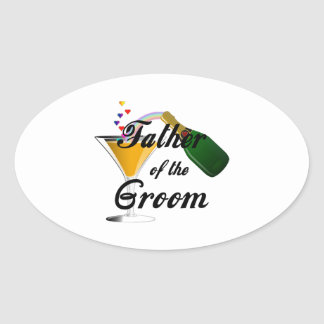 Father of the Groom Champagne Toast Sticker