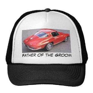 Father of the Groom Corvette Trucker Hats