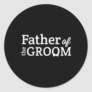 Father of the Groom Round Stickers