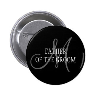 Father of the Groom Wedding Monogram Button