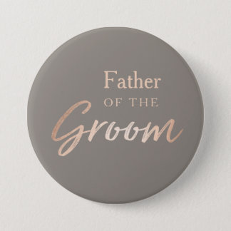 Father of the Groom Wedding Rehearsal 7.5 Cm Round Badge