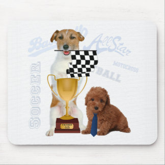 Father of the Year Trophy Sports Dogs for Dad Mouse Mat