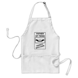 Father of Twins Handle With Care Standard Apron