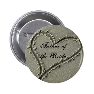 Father ofthe Bride 6 Cm Round Badge