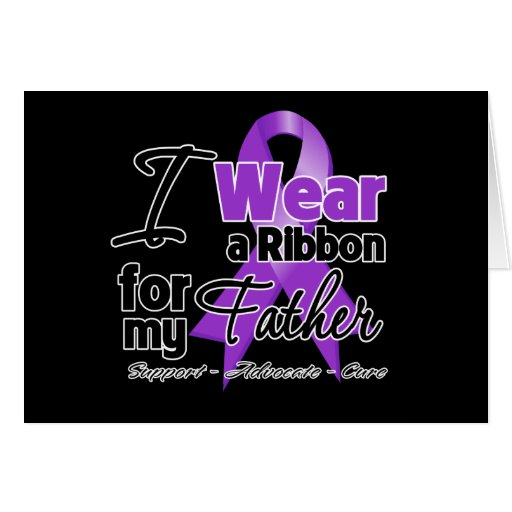 Father - Pancreatic Cancer Ribbon Cards