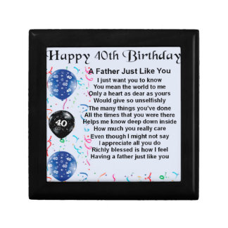 Father Poem - 40th Birthday Gift Box