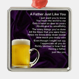 Father Poem  -  Beer Design Christmas Ornament