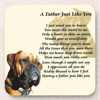 Father Poem - Boxer Dog Design Coaster