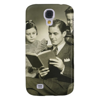 Father Reading to Son Galaxy S4 Case
