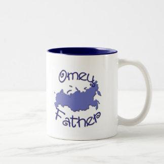 Father (Russian) Map Two-Tone Coffee Mug
