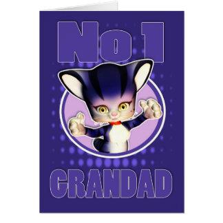 Father s Day Card - Cute Cat - No1 Grandad