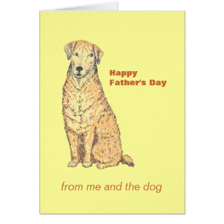 Father s Day Card with Dog Personalize