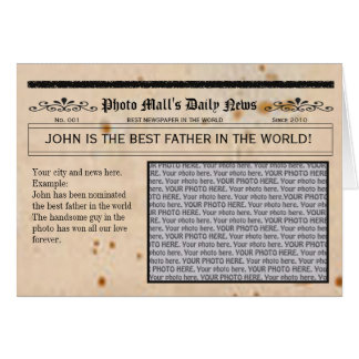 Father s Day Newspaper card frame