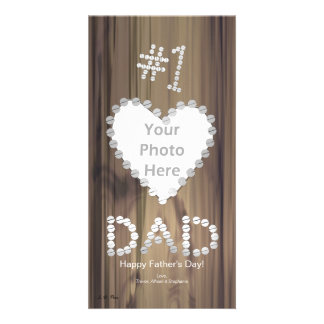 Father s Day - Number One Dad on Wood Picture Card