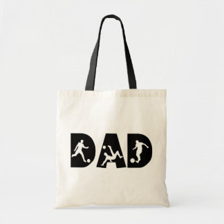 Father s Day Soccer Dad Tote Bags