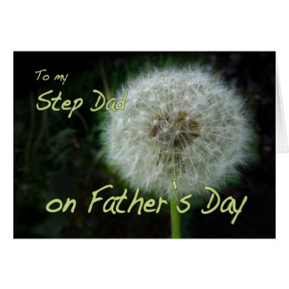 Father s Day Step Dad dandelion wish for Card