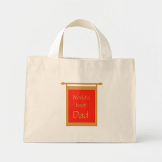 Father s Day World s Best Dad Banner Tote Bags
