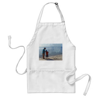 Father, Son and God Poem Apron
