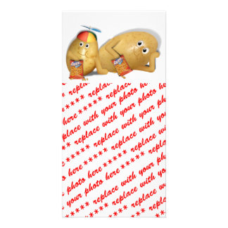 Father Son Spuds Personalized Photo Card