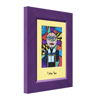 FaThEr TiMe Purple Yellow Canvas Wall Art Gallery Wrapped Canvas