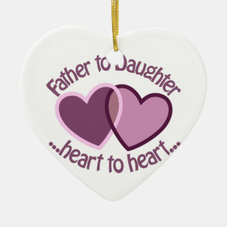Father To Daughter Christmas Ornament