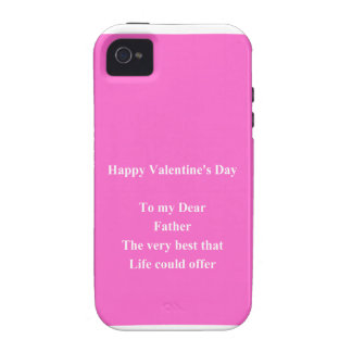 father Valentine's day iPhone 4 Cases