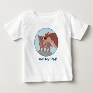 Father Wolf and Pup Baby T-Shirt