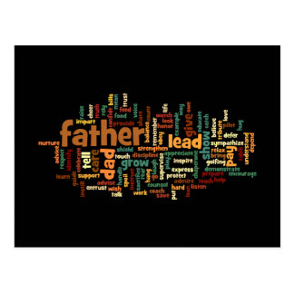 Father Word Cloud Postcard