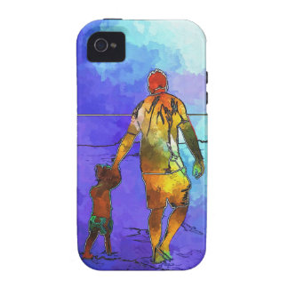 Fatherhood By The Ocean iPhone 4/4S Cases