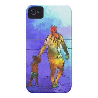 Fatherhood By The Ocean iPhone 4 Case-Mate Cases