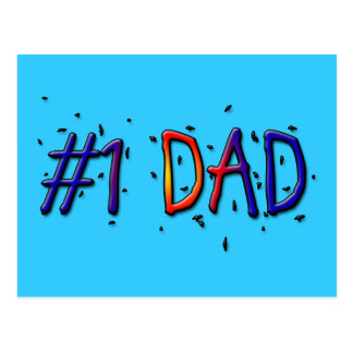 Father's Day #1 Dad Postcard